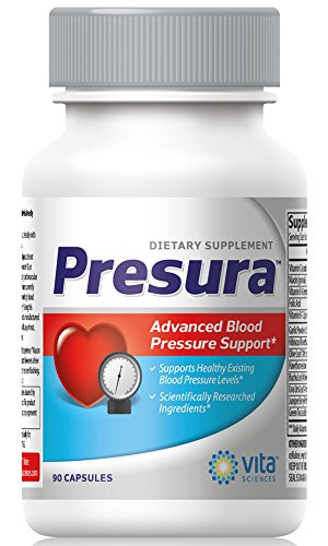 Blood Pressure Support Formula - Naturally Promote Healthy Blood Pressure with Hawthorn Berry, Niacin, Garlic Extract for Healthier Heart, Brain, and Blood ()