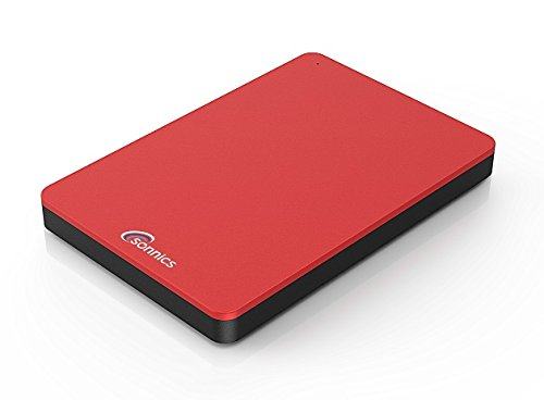 Sonnics 250GB Red External Pocket Hard Drive USB 3.0 Super Fast Transfer Speed for use with Windows PC, Apple Mac and Xbox 360