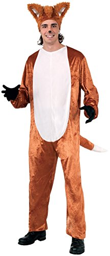 Forum Novelties Men's Fox Disguise Costume, Jumpsuit w/Hat, Standard