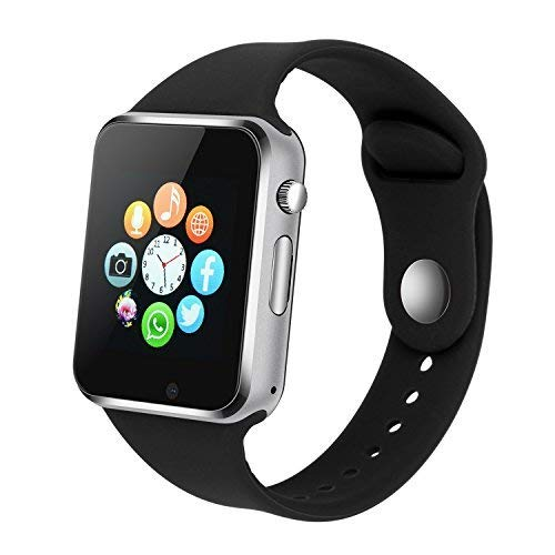 Smart Watch PLYSIN Bluetooth Smartwatch Unlocked Watch Cell Phone with Sim Card Slot Track Activity Watch with Pedometer Camera Music-Player for iOS iPhone Android Samsung HTC Sony Huawei