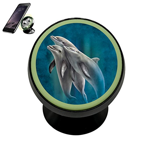 Three Dolphins Magnetic Phone Car Mount Holder Universal 360 Rotation Stand Metal Mobile Phone