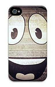 3D PC Back Case Cover for iPhone 4 Hard Shell Skin for iPhone 4 with Smile