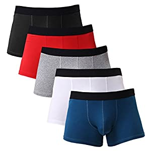Gudan Men's Cotton Boxer Briefs Short Leg Pack of 4 5
