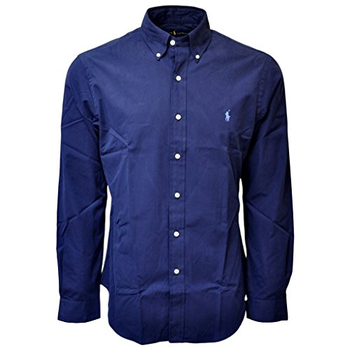 Ralph Lauren Long Sleeve Classic Fit Mens Shirt, Windsor Navy, - Ralph Polo Navy Lauren