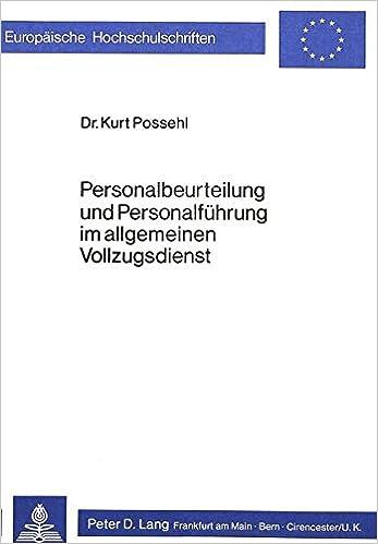 Personalbeurteilung und Personalführung im allgemeinen ...