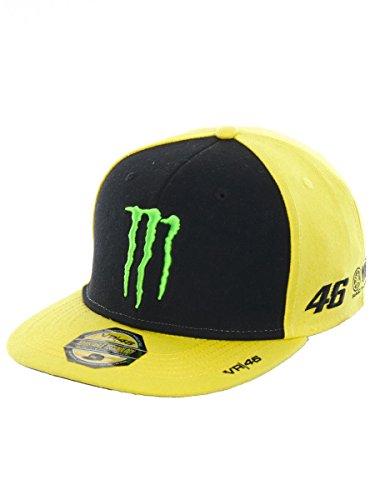 Valentino Rossi VR46 Moto GP Monster Energy Sponsor Flat Peak Cap Official 2018