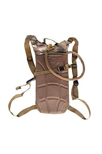 SODIAL(R)2.5L TPU Hydratation System Blase Wasser-Beutel Tasche fuer Rucksack Wandern Klettern-CP camo