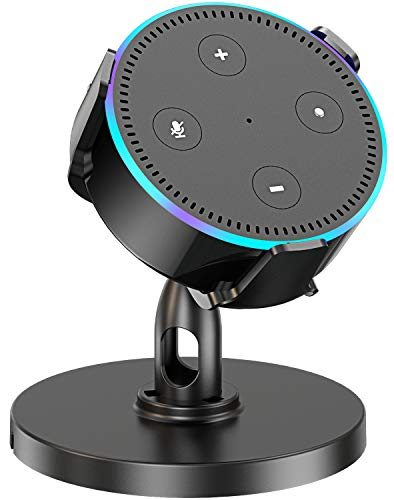(Pobon Table Holder for Dot 2nd Generation & Xiaomi AI Speaker, 360° Adjustable Desktop Stand Mount for Smart Speaker, Improves Sound Visibility and Appearance, Dot Accessories)