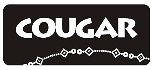 Cougar Hard Hat Biker Helmet Stickers Tool Box Bumper Sticker for Any Smooth - Bumper Window Wall Sticker Cougars Helmet