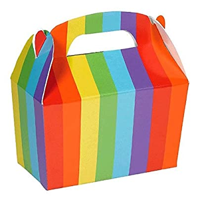 Gable Favour Box | Rainbow | Party Accessory: Kitchen & Dining