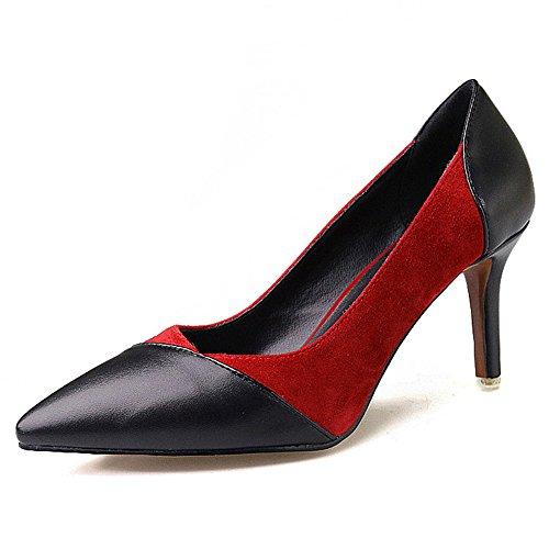 Nine SevenPumps Heels - Sandalias con cuña mujer granate