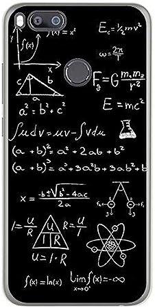 Tumundosmartphone Funda Gel TPU para XIAOMI MI 5X / MI A1 diseño Formulas Dibujos