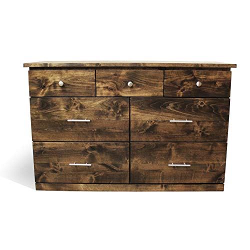 Solid Wood Rustic Dresser | Home & Living | Bedroom Furniture | Rustic and Modern Chest of Drawers | Wood Bedroom Furniture | Simple Dresser