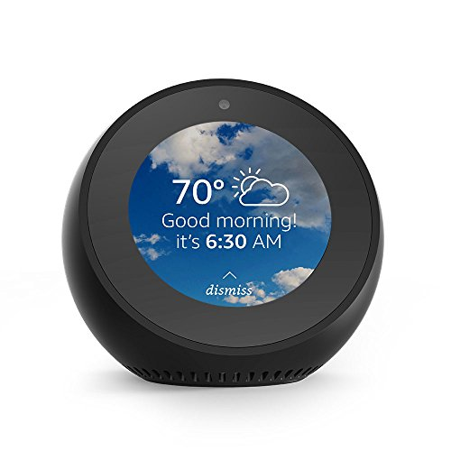 Echo Spot - Smart Alarm Clock with Alexa - Black from Amazon