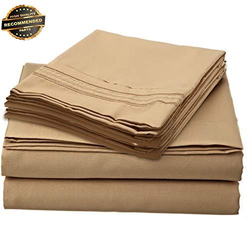 Gatton Premium New 1800 Premier 6 Piece DEEP Pocket Bed Sheet Set by | Collection SHSCZ-18213089 ()