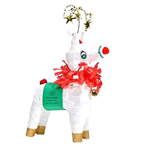 Rudolph the Red Nosed Reindeer Refillable Mini Pinata Tabletop Centerpiece with 6 -