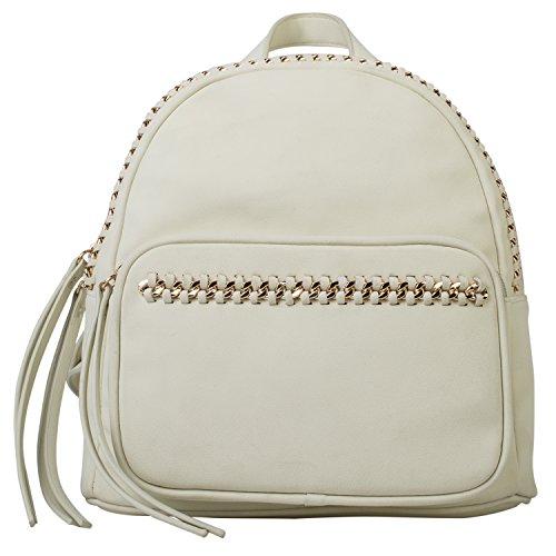 Dot Dash Fashion Mini PU Leather Backback Shoulder Bag Womens Rucksack (Erin, - Leather Erin