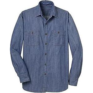 Port Authority Men's Patch Pockets Denim Shirt