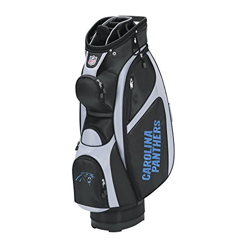 Wilson NFL Carolina Panthers Cart Golf Bag, Black/Grey, One ()