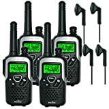 10km Binatone Action 1100 Long Range Two Way Radio - Quad + 4 x Comtech CT-10VX Headsets