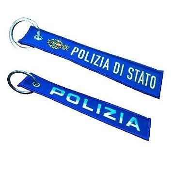Giemme artículos de promoción Patch-Llavero de tela Policía ...