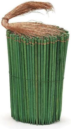 75ct 2-1//2 Green Wooden Wired Picks Florist Wood Stakes Floral Bows Crafts