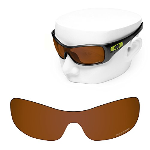 OOWLIT Replacement Sunglass Lenses for Oakley Antix Brown Polycarbonate Combine8 Polarized by OOWLIT