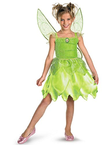 [Disguise Girls Disney Fairies Tink and The Fairy Rescue Classic Costume, One Color, Small/4-6X] (Tinkerbell Fairy Costumes For Women)