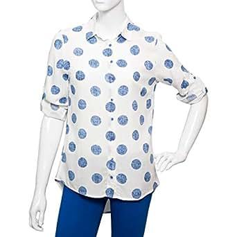 Big Dart Multi Color Viscose Shirt Neck Shirts For Women