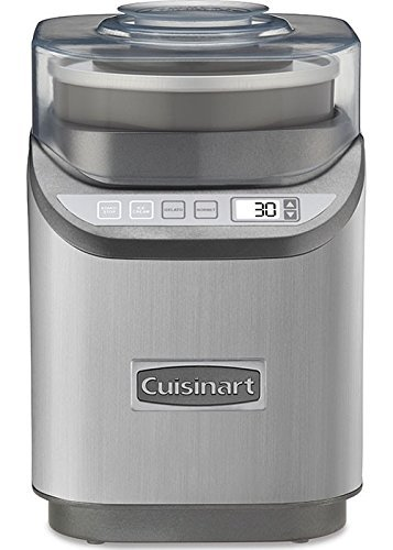 Cuisinart ICE-70 Electronic Ice Cream Maker, Brushed Chrome (Frozen Custard Machine)