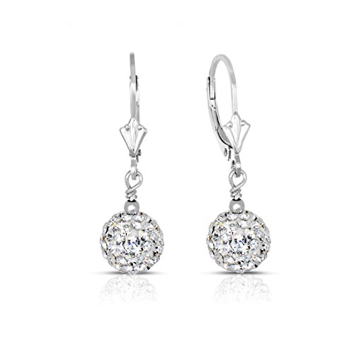 Pave White Gold Earrings - 8