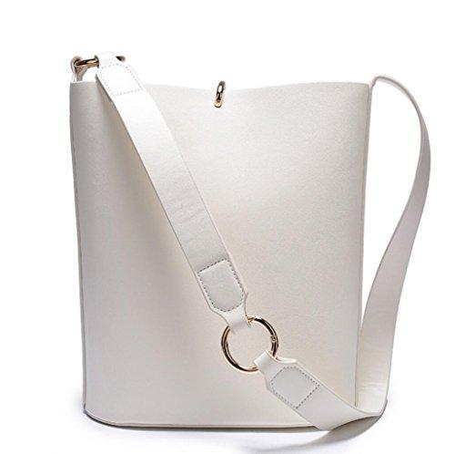 Señoras bolsos de cuero de la bolsa de bolso de moda diagonal casual bolsa extraíble amplia correa de hombro bolsos 3