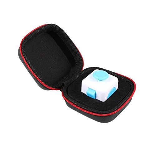 Bag For Toys,Elevin(TM)2017 Gift for Fidget Cube Anxiety Stress Relief Focus Dice Bag Box Carry Case Packet (Black 1)