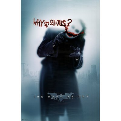 Batman: the Dark Knight Movie: Joker (Heath Ledger) 'Why So Serious' Wall Poster (Rolled) 24