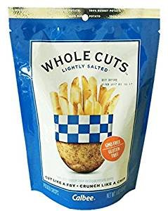 Calbee Potato French Fries Snack Whole Cuts 4oz (Lightly Salted, 6 Pack) (Potato Chips Salted Lightly)