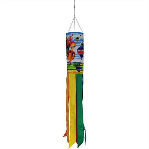 Hot Tail (Produtos Profissionais de Elite 40-Inch Durable Hot Air Balloon Windsock with Rainbow Tails)