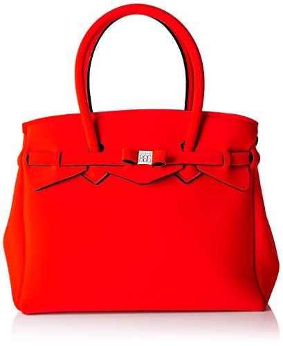 Sauvez mon sac Mlle Plus, Borsa Donna Spalla, 34x29x18 cm (w X H L) Rosso (manteau rouge)
