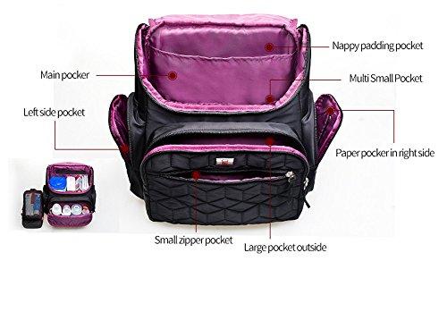4 PC / pañal sólido impermeable del sistema empaqueta los bolsos de la madre de la manera Bolsos convenientes del cochecito de la capacidad grande del recorrido