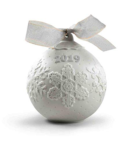 Lladro 2019 Porcelain Christmas Ball #8443 (Lladro Christmas Figurines)