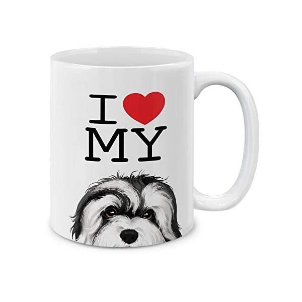 MUGBREW I Love My White Silver Havanese Dog Ceramic Coffee Gift Mug Tea Cup, 11 OZ 1