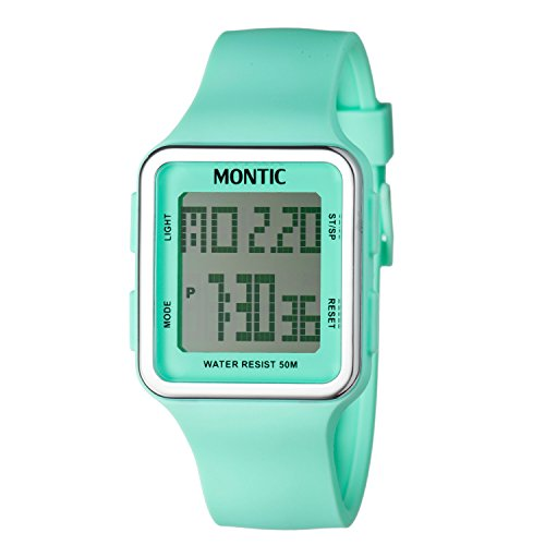 Montic-Womens-Multifunction-Water-Resistant-Digital-Turquoise-Sports-Watch