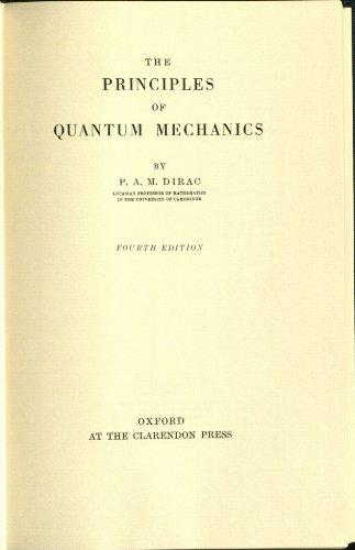 the principles of quantum mechanics 4th edition pdf
