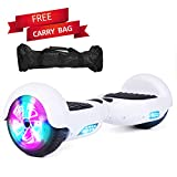 Sea Eagle Hoverboard Self Balancing Scooter Hover Board for Kids Adults with UL2272 Certified, Wheels LED Lights and Portable Carrying Bag (White)