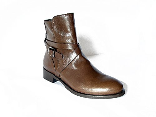 Strap Cm Heel Brown 3 Hazards And Buckle Oswald With Ciok Womens Boots Leather Sole Rubber wUHO8gx