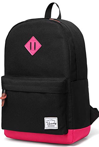 Backpack for Teen Girls, Vaschy Unisex Classic Water Resistant School Backpack Fits 15Inch Laptop (Black (Best Fits For Teens Girls)