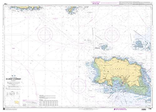SHOM Chart 7160: De Jersey à Guernsey, 33 x 47 inches, Premiere Bond Paper