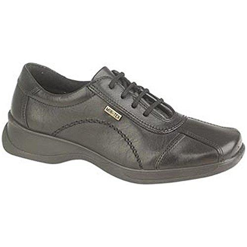 Cotswold Lace-Up Textile Lined Ladies Shoes - Black - Size 3