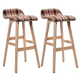 Set of 2 Vintage Style Winsome Wood Bar Stool Dining Chair Counter Height 29-Inch Brown #730