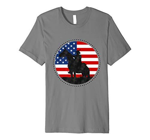 Yankee Doodle Patriotic popular American Song July 4th horse Premium T-Shirt ()