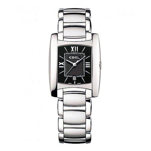 Ebel Brasilia Lady Black Dial Bracelet Swiss Quartz Women's Watch 1215773